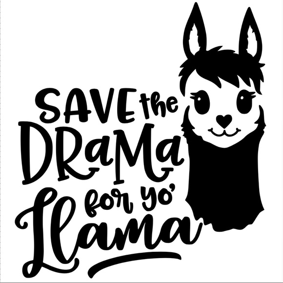 Drama Llama Iron On Vinyl Transfer Decal Patch Boutique
